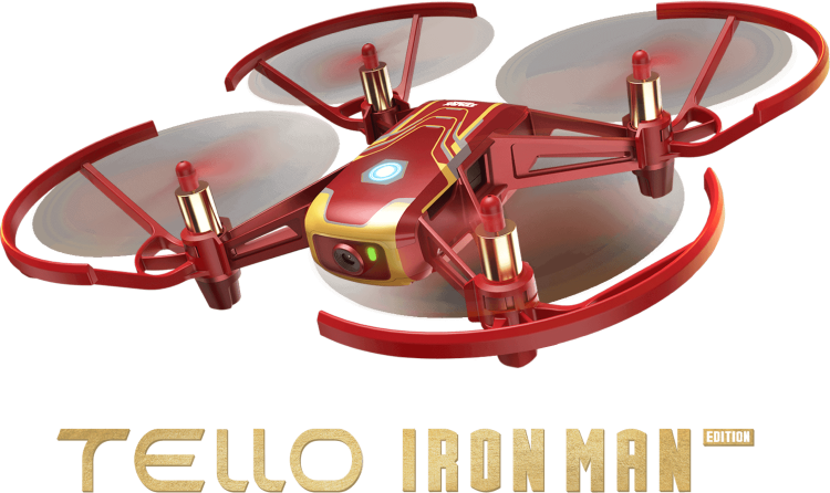 Квадрокоптер Ryze Tello Iron Man Edition (CP.TL.00000002.01)
